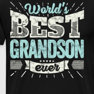 Cool family gift shirt: World's best grandson ever - Men's Premium T-Shirt