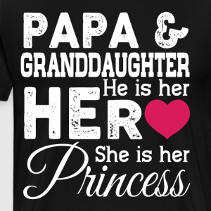 Papa And Granddaughter T Shirt - Men's Premium T-Shirt