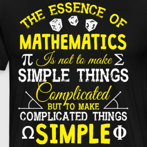 The Essence Of Mathematics T Shirt - Men's Premium T-Shirt