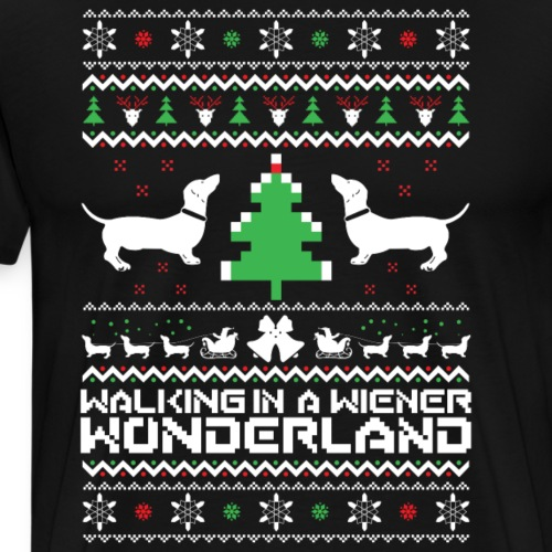 walking in a winter wonderland - Christmas t shirt - Men's Premium T-Shirt