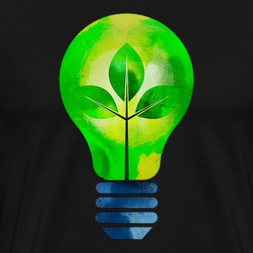 green leaves Light Bulb - Men's Premium T-Shirt