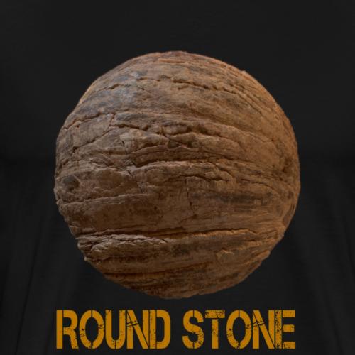 3D round stone - Men's Premium T-Shirt