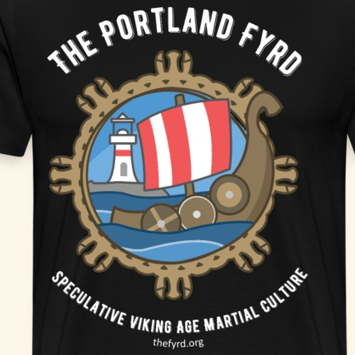 Portland Fyrd Logo and Text - Men's Premium T-Shirt