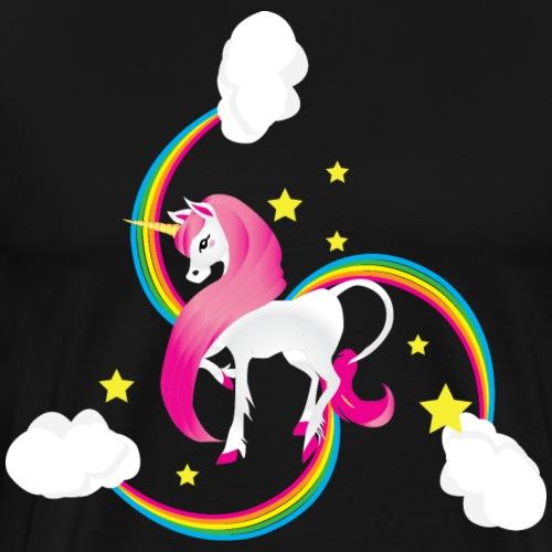 Unicorn Rainbow Swirl - Men's Premium T-Shirt