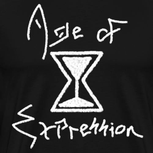 Age of Expression Logo (White) - Men's Premium T-Shirt