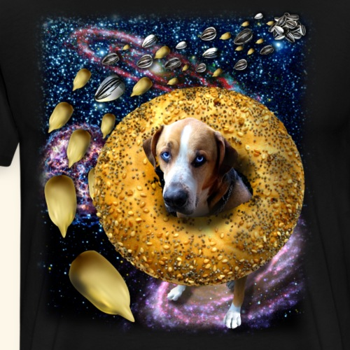 Rover the Bagel Space Dog - Men's Premium T-Shirt