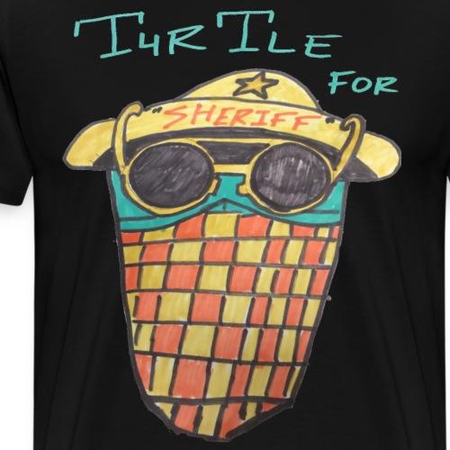Turtle For Sheriff RETRO - Men's Premium T-Shirt