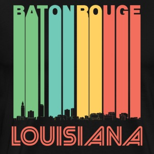 Retro Baton Rouge Louisiana Skyline - Men's Premium T-Shirt