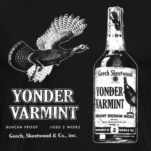 Yonder Varmint Whiskey - Worn - Men's Premium T-Shirt