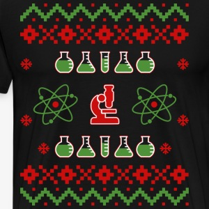 Ugly Christmas Science Sweater - Men's Premium T-Shirt