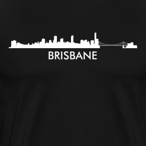 Brisbane Australia Skyline - Men's Premium T-Shirt