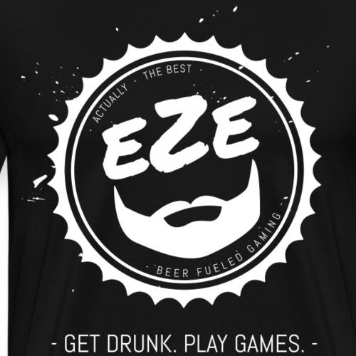 Get Drunk Play Games Bottlecap - Men's Premium T-Shirt
