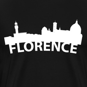 Arc Skyline Of Florence Italy - Men's Premium T-Shirt