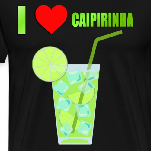 CAIPIRINHA COCKTAIL LOVE - Men's Premium T-Shirt