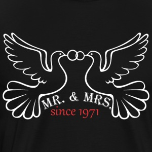 Mr And Mrs Since 1971 Married Marriage Engagement - Men's Premium T-Shirt