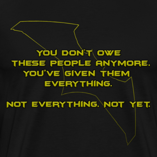 Batman Quote - Men's Premium T-Shirt
