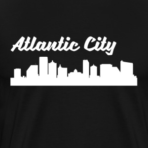 Atlantic City NJ Skyline - Men's Premium T-Shirt
