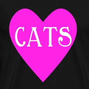 Heart For Cats - Men's Premium T-Shirt