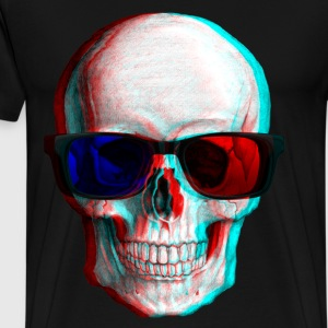 3D Glasses skull - Men's Premium T-Shirt