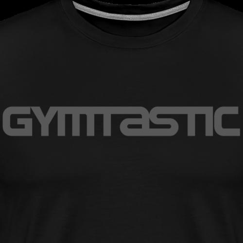 Gymtastic - grey - horizontal - front - Men's Premium T-Shirt