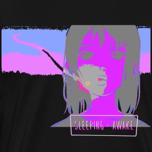 Sleeping Awake NVRKNWSBST - Men's Premium T-Shirt