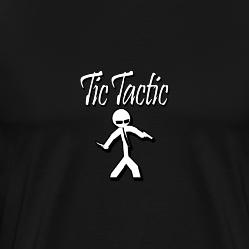 Tic Tactic White Logo 2 - Men's Premium T-Shirt