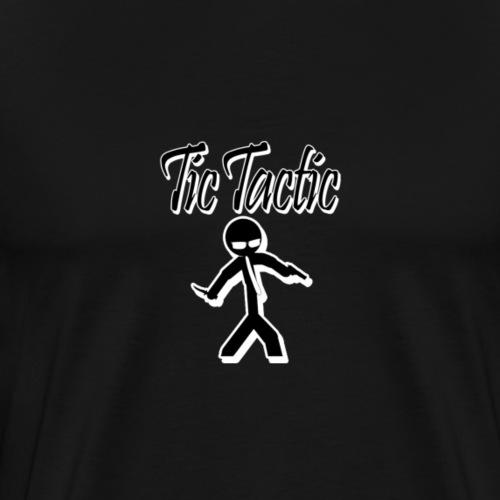 Tic Tactic Black Logo 2 - Men's Premium T-Shirt