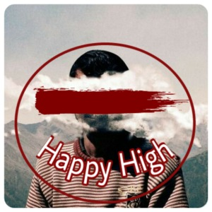 Happy High Cloudy Face - Men's Premium T-Shirt