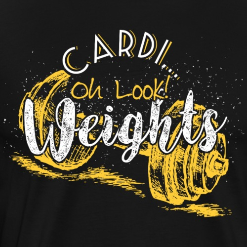 Cardio vs. Weights - Men's Premium T-Shirt