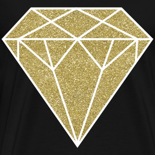 GOLD GLITTER DIAMOND - Men's Premium T-Shirt