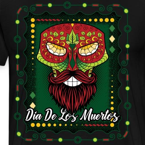 Day Of The Dead Lizard Sugar Skull Green - Men's Premium T-Shirt