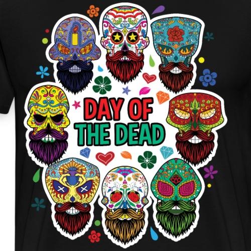 Day Of The Dead Day of the Dead Beard Sugar Skull - Men's Premium T-Shirt