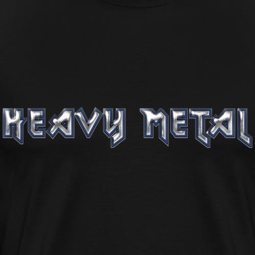 Heavy Metal Chromium Logo Design - Men's Premium T-Shirt
