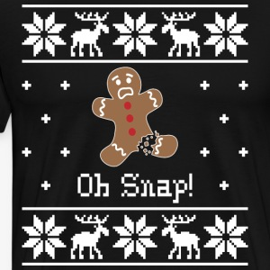 Oh Snap Ugly Christmas Sweater - Men's Premium T-Shirt