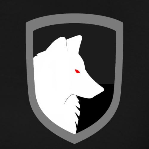 White Wolf Emblem Rimmed - Men's Premium T-Shirt