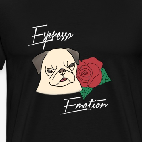 Espresso Emotion x Rose Pug - Men's Premium T-Shirt