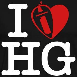 i love hurdy gurdy (2 rows) - Men's Premium T-Shirt