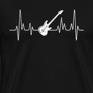 Electric Guitar Heartbeat Shirt - Men's Premium T-Shirt