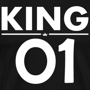 King 01 Happy Fathers Day - Men's Premium T-Shirt