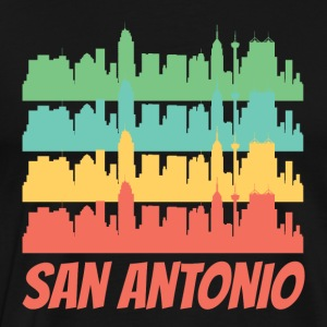 Retro San Antonio TX Skyline Pop Art - Men's Premium T-Shirt