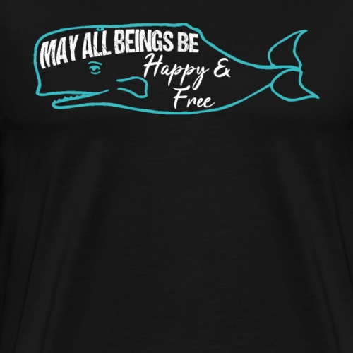 Whale Mantra Happy & Free - Men's Premium T-Shirt