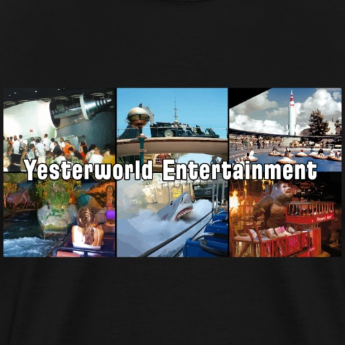 Yesterworld Parks Intro Collage - Men's Premium T-Shirt