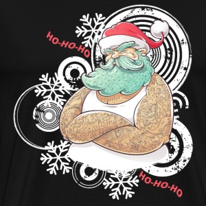 Vintage Christmas Tattooed Santa loves tattoos. - Men's Premium T-Shirt