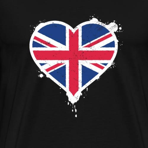 Union Jack Heart Flag - Men's Premium T-Shirt