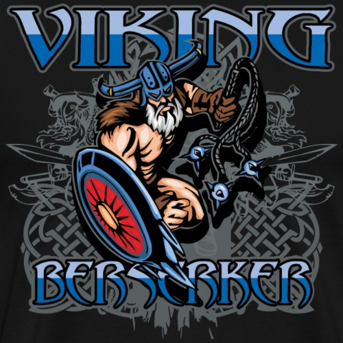 Viking Berserker Battle Warrior - Men's Premium T-Shirt