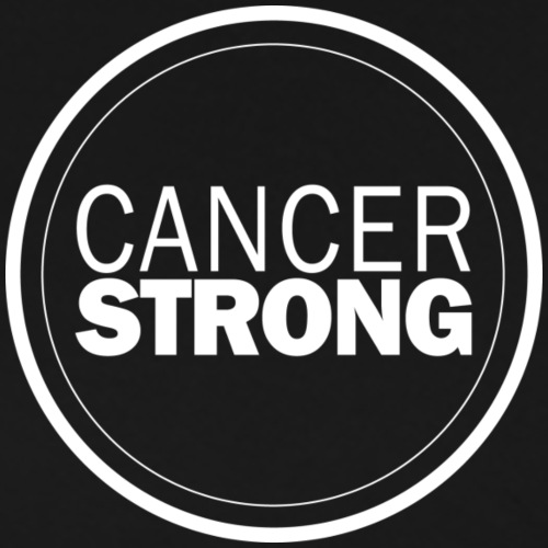 White Cancer Strong Logo - Men's Premium T-Shirt