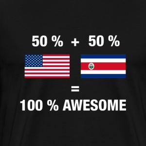Half Cambodian Half American 100% Awesome Flag Cam - Men's Premium T-Shirt