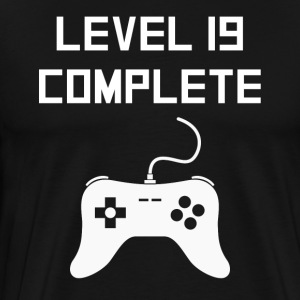 Level 19 Complete Video Games 19th Birthday - Men's Premium T-Shirt