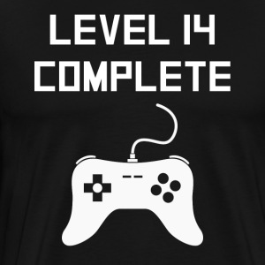 Level 14 Complete Video Games 14th Birthday - Men's Premium T-Shirt