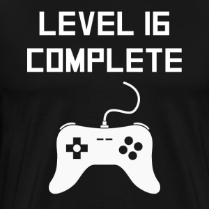 Level 16 Complete Video Games 16th Birthday - Men's Premium T-Shirt